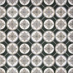 Carrelage aspect ciment décoré 20x20 cm IRMINIO - 0.52 m²