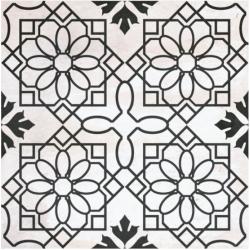 Carrelage aspect ciment décoré 20x20 cm MEZEN - 0.52 m²