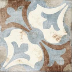 Carrelage aspect ciment décoré vieilli 20x20 cm TAMISE - 0.52 m²