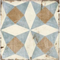 Carrelage aspect ciment décoré vieilli 20x20 cm MURRAY - 0.52 m²