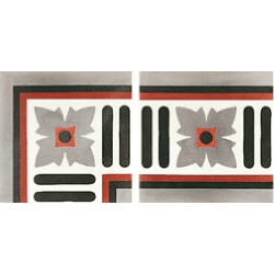 Carreau de ciment angle gris rouge blanc 20x20 cm ref 4980-A2 - Unité