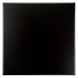 Carrelage uni 5x5 cm nero matt - 1 unité