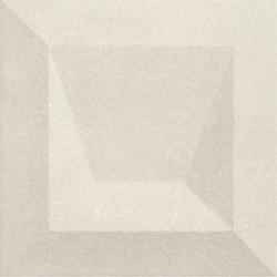 Faïence à relief 3D mate DILYS KAUS AVORIO 25X25 - 0,94 m²