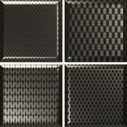 Faïence décorée couleur métal DINARA NOVEL METALIC 15x15 - 0,54 m²