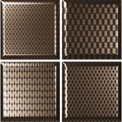 Faïence décorée couleur bronze DINARA NOVEL BRONZE 15x15 - 0,54 m²