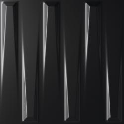 Faïence à relief 3D DORIC BLACK SATIN 25X25- 0,94 m²