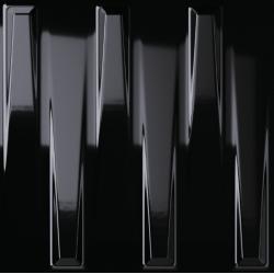 Faïence à relief 3D DORIC BLACK GLOSS 25X25- 0,94 m²