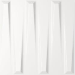 Carrelage mural décoré DORIC WHITE SATIN 25X25- 0,94 m²