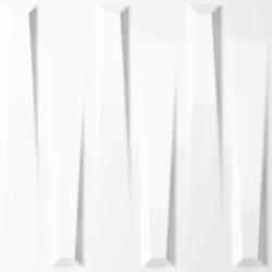 Carrelage mural décoré DORIC WHITE GLOSS 25X25- 0,94 m²