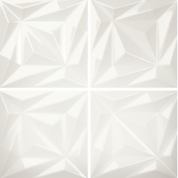 Faïence blanche brillante à relief 3D ELOYA VITTA ARTIC 15X15 - 0,54 m²