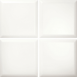 Faïence blanche brillante ELOYA CAPITONE ARTIC 15X15 - 0,63 m²