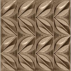 Faïence couleur bronze à décors multiples GULHAN BRONZE 15x15 - 0,63 m²