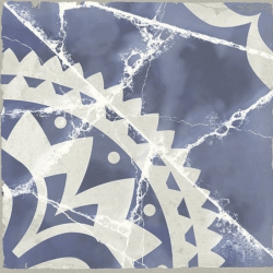 Faïence aspect ciment bleu et blanc MILLPORT SAVU 15X15 - 0,63 m²
