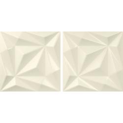 Faïence brillante colorée à relief 3D NEWTON IGGY PERGAMONT 15x15 - 0,63 m²