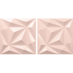 Faïence brillante colorée à relief 3D NEWTON IGGY PINK 15x15 - 0,63 m²