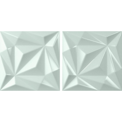 Faïence brillante colorée à relief 3D NEWTON IGGY MINT 15x15 - 0,63 m²