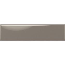 Faïence rectangulaire unie TARBERT DARK GREIGE GLOSS 7,5X30 - 0,63 m²