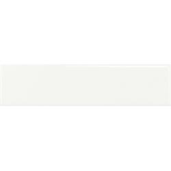 Faïence rectangulaire unie TARBERT WHITE GLOSS 7,5X30 - 0,63 m²