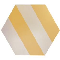 Tomette blanche à rayure grise MERAKI STRIPE MOSTAZA 19.8x22.8 cm - 0.84m²