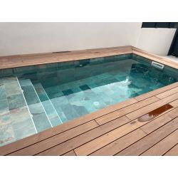 Carrelage piscine effet pierre naturelle OXFORD BALI GREEN 30x60 cm R9 - 1.26 m²
