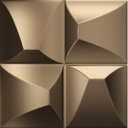 Faïence couleur bronze à relief EDANNA BRONZE 25X25 - 0,94 m²