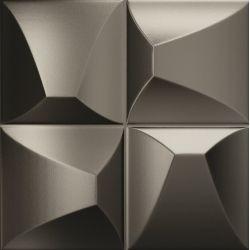 Faïence couleur métal à relief EDANNA METAL 25X25 - 0,94 m²