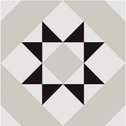 Carrelage géométrique aspect ciment KINABALU VITA 20X20 - 0,52m²