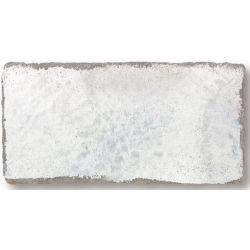 Parement brillant effet brique usé MANOVO SEDATE WHITE 7,5X15 - 0,5m²