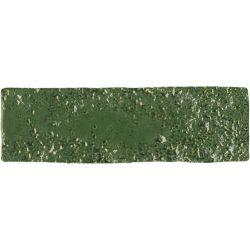 Carrelage brique de parement très réaliste BINDI GLOSS MOSS GREEN 6X20 - 0,5m²