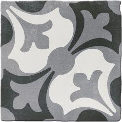 Carrelage imitation ciment CHITWAN BLACK&WHITE 15X15 FT1014 - 0,5m²