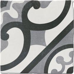 Carrelage imitation ciment CHITWAN BLACK&WHITE 15X15 FT1013 - 0,5m²