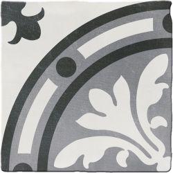 Carrelage imitation ciment CHITWAN BLACK&WHITE 15X15 FT1011 - 0,5m²