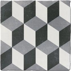 Carrelage imitation ciment CHITWAN BLACK&WHITE 15X15 FT1008 - 0,5m²