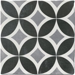 Carrelage imitation ciment CHITWAN BLACK&WHITE 15X15 FT1006 - 0,5m²