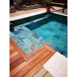 Carrelage piscine effet pierre naturelle FIDJI 30x60 cm R9 - 1.26 m²