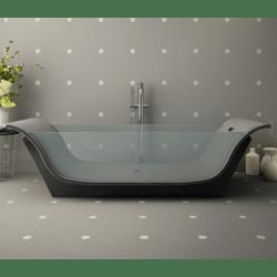 Mosaïque mini tomette hexagonale 30x30 cm SIXTIES SHAPES mate Grey & White - 1 m²