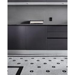 Mosaïque mini tomette hexagonale 30x30 cm SIXTIES SHAPES mate FLOR 60Y - White&Black - 1 m²