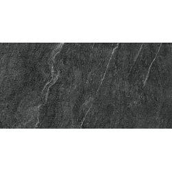 Carrelage anti dérapant en grès cérame effet pierre rectifié CAIRNS ANTRACITE 30X60 - 1,08m²