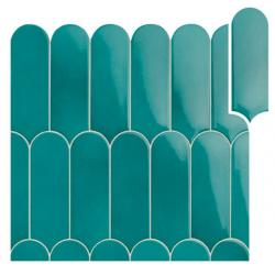 Faience écaille crayon brillant FORLI MIX TURCHESE 7,2X19,5 - 0,48m²
