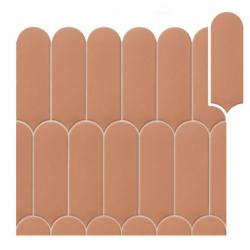Faience écaille crayon argile mate FORLI CLAY 7,2X19,5 - 0,48m²