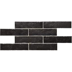 Carrelage effet brique de parement BEJA NIGHT 25X50 - 0,75m²