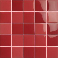 Carrelage piscine moderne rouge nuancé PORTLAND ROJO 10x10 - 0.5 m²