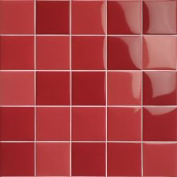 Carrelage piscine moderne rouge nuancé PORTLAND ROJO 30,5X30,5 - 1,02 m²
