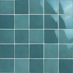 Carrelage piscine moderne turquoise nuancé PORTLAND EMERALD 10x10 - 0.5 m²