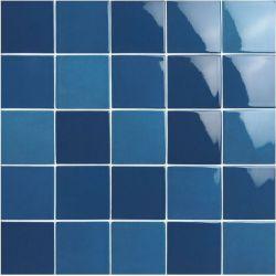 Carrelage piscine moderne bleu nuancé PORTLAND INDIGO 10x10 - 0.5 m²