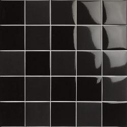 Carrelage piscine moderne noir nuancé PORTLAND NEGRO 10x10 - 0.5 m²