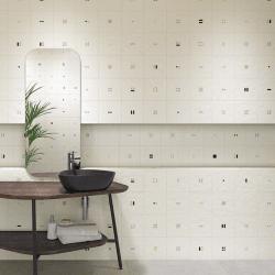 Carrelage décoré 20x20 cm SOIE - 1 m²