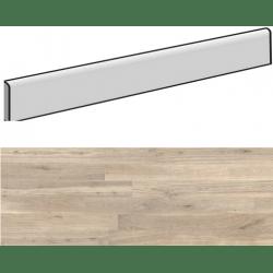 Plinthe aspect bois moderne ANDRIA AMANDE grand format - 6,5X120- 8 Unités
