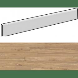 Plinthe aspect bois moderne ANDRIA AMBRE grand format 6,5X120- 8 Unités