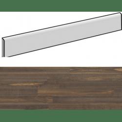 Plinthe aspect bois moderne ANDRIA BRUN grand format - 6,5X120- 8 Unités